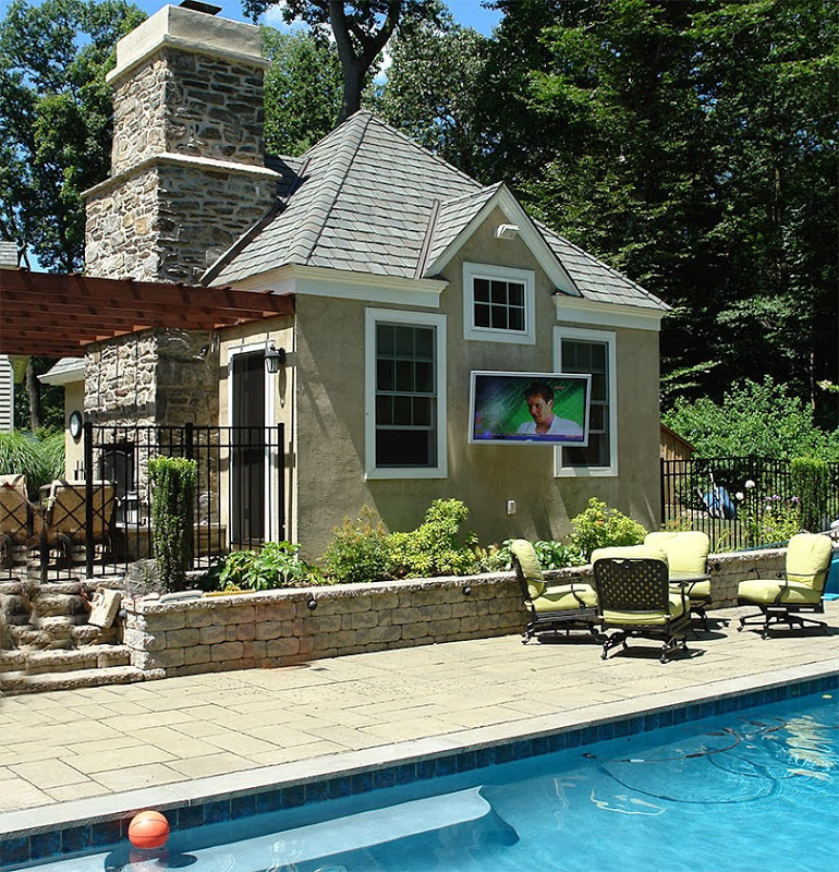 Do you love to spend time outside, perhaps on the patio or in the pool? All  Media Consultants can enhance your backyard with HiFi music and HDTV. - Outdoor TV Installation NJ |Outdoor Sonos Sound System